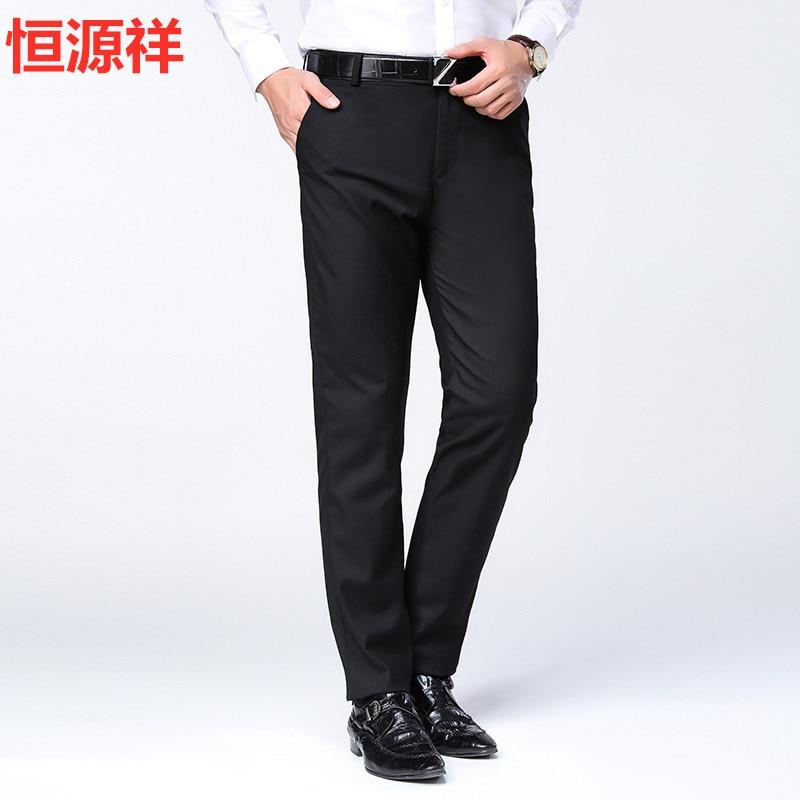 19 HYX Spring And Summer New Style Top Grade MEN'S Casual Pants Straight-leg Pants Medium Waist Pants MEN'S Trousers MEN'S Wear