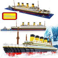 1860 pçs jogo loz rs titanic conjuntos navio de cruzeiro modelo barco diy construção diamante mini blocos kit crianças brinquedo não legoinglys