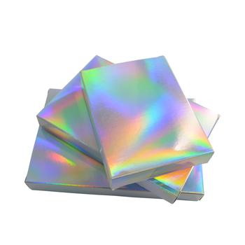 50 sztuk holograficzny prezent pudełko imprezowe papierowe laserowe etui na karty kartony pudełka na prezenty kosmetyki opakowania pudełka na cukierki Wedding favor tanie i dobre opinie TECHTONGTUO Plik skrzynka Przypadku 8x10 5x2cm 247981