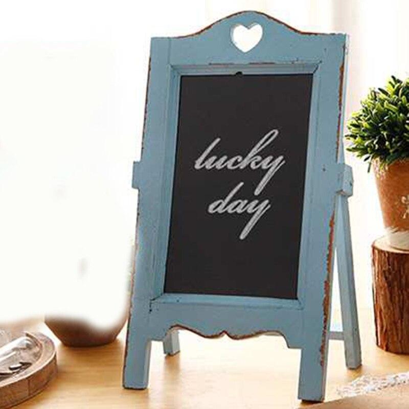 PPYY NEW -Wood Chalkboard Scaffolding Message Board Wooden Small Blackboard Restaurant Cafe Desktop Creative Multifunctional