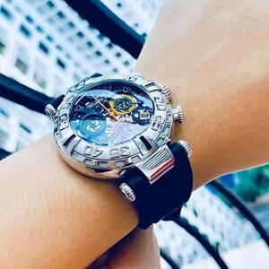 Image 5 - Reef Tiger/RT relojes deportivos para hombre, cronógrafo rosa, mecanismo a la vista dorado, resistente al agua, masculino, RGA3059 S