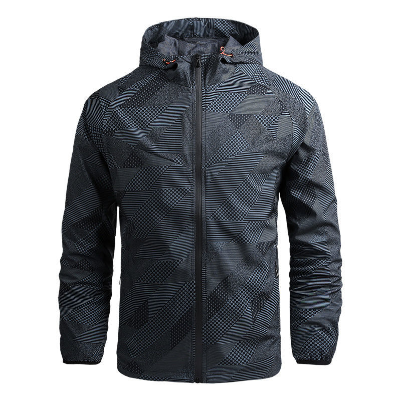 Men 's Spring and Autumn Mountaineering Jacket Thin Casual Quick-Drying Windbreaker Outdoor Sports Jacket Men Newly