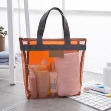 Organizer Storage-Bag Carrying-Clothes Travel Portable Bathroom Mesh-Net Lightweight