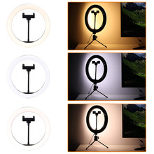 Fill-Light Ring-Lamp Makeup Selfie-Ring Dimmable Live-Studio LED Camera Phone Photo