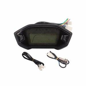Image 5 - Compteur de vitesse 13000 tr/min numérique pour moto, universel, rétro éclairé, écran LCD, 2 4 cylindres, odomètre livraison directe
