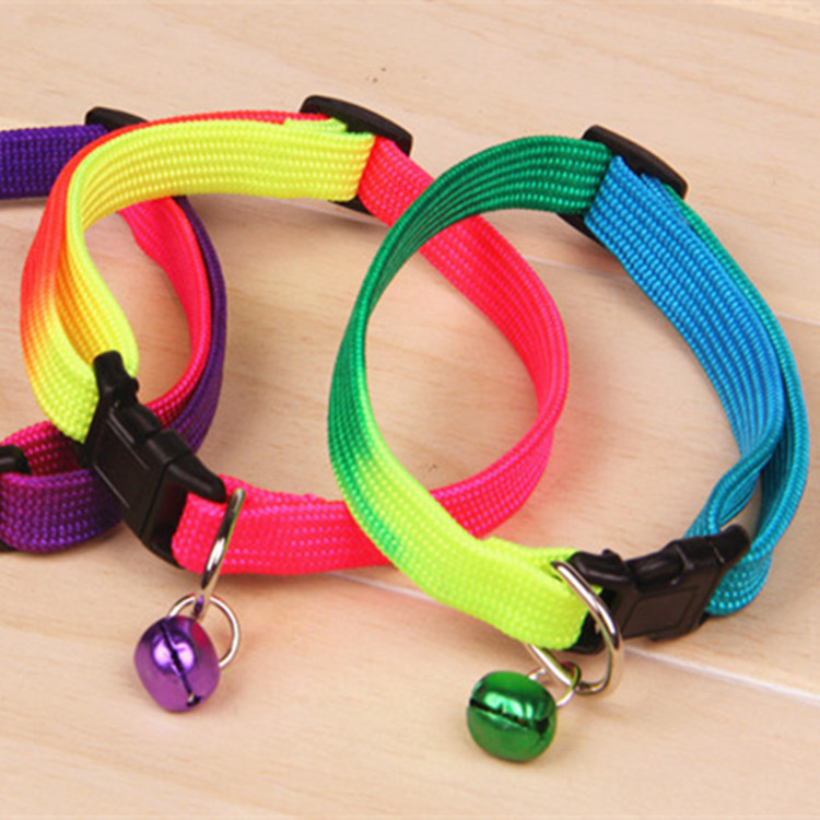 Pet Colorful Neck Ring Dog Cat Neck Collar Dog Colorful Bell Collar Neck Ring
