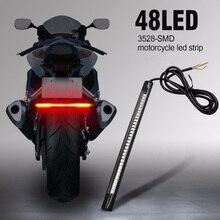 Универсальный задний тормоз мотоцикла стоп сигнал поворота 48 светодиодный SMD светильник полосы