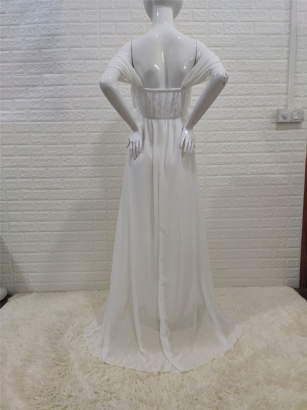 Shoulderless Sexy Maternity Dress Photo Shoot Long Pregnancy Dresses Photography Props Lace Chiffon Maxi Gown For Pregnant Women (15)