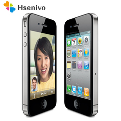 Original Unlocked Apple iPhone 4 Phone 16GB ROM Dual core 3.5 inch GSM WCDMA 3G WIFI GPS 5MP Camera Used Cell phone refurbished