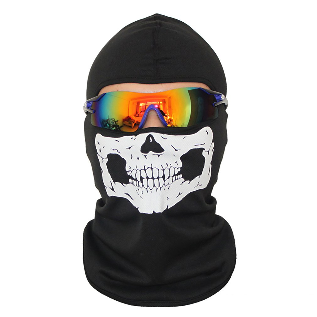 Outdoor Cs Head Cover Skull Tactical Mask Equipped With Halloween Anti-Terror Mask A B C D
