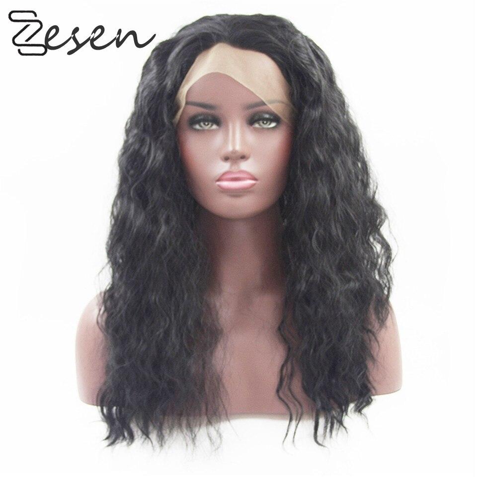 calor peruca sintética da fibra com linha fina natural e cabelo do bebê