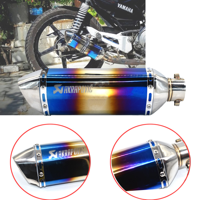 Image 4 - Universal akrapovic exhaust motorcycle muffler escape moto with db killer Exhaust Systems for honda benelli msx125 nmax EP01-in Exhaust & Exhaust Systems from Automobiles & Motorcycles