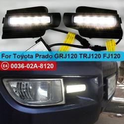 2 Stuks Led Drl Voor Toyota Land Cruiser Prado 120 GRJ120 TRJ120 FJ120 LC120 2003 ~ 2009 Dagrijverlichting mistlamp Originele Esuse