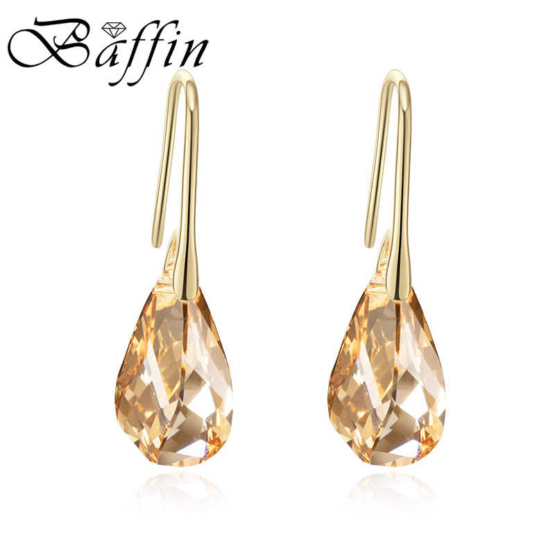 BAFFIN New Trendy Gold Helix Pendant Drop Earrings Crystals From Swarovski For Women Party Statement Indian Jewelry Friends Gift