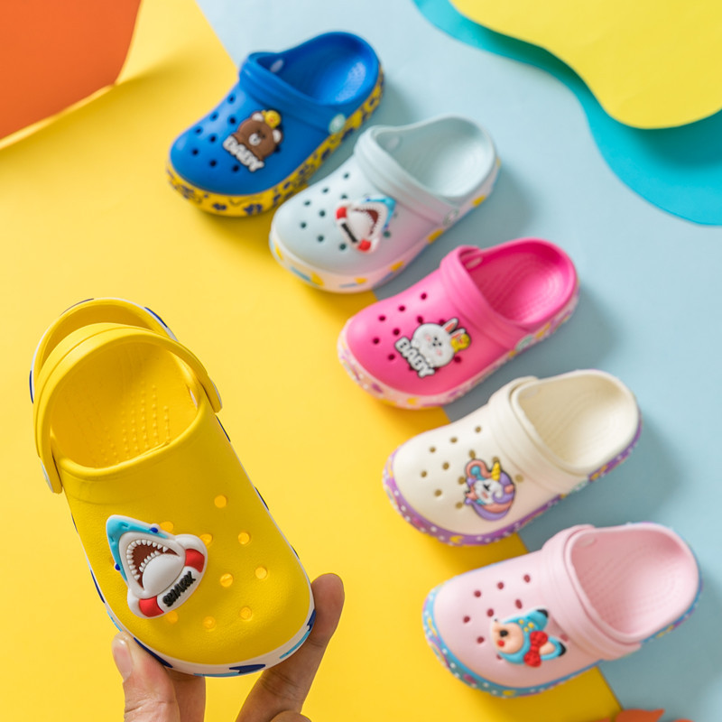 2020 New Baby Girl Cartoon Slipper Toddler Beach Garden Kids Boy Cave Shoes For Children Summer Flip Flops Indoor Cute Sandals