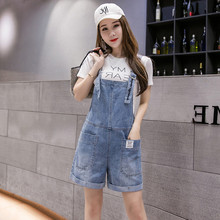 Women Clothing Rompers Jeans Shorts Summer Overalls Denim Fabric Playsuits Suspenders