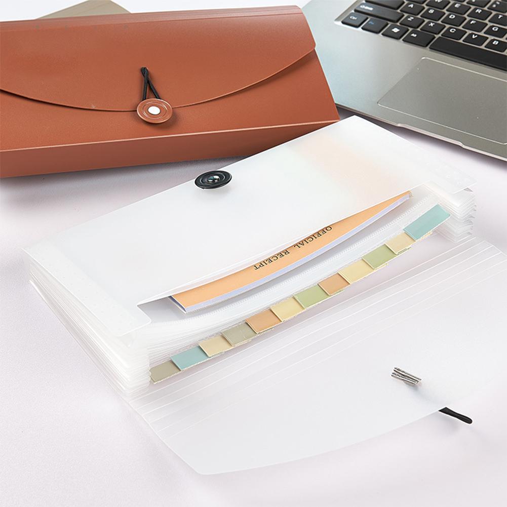 Portable Multifunction Expanding Organizer File Folder Ticket Holder