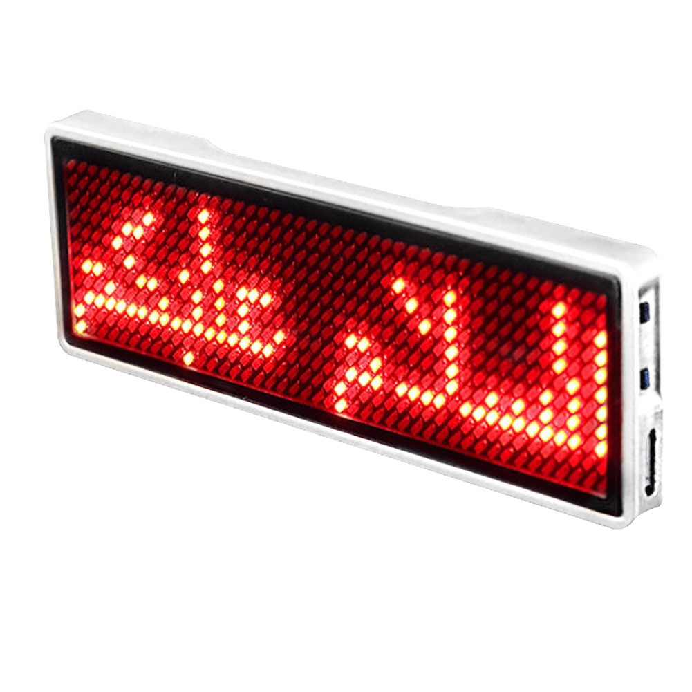 Message Sign Business Card Badge Mini LED Name Tag Rechargeable Scrolling Display Portable Event Digital Programmable Party