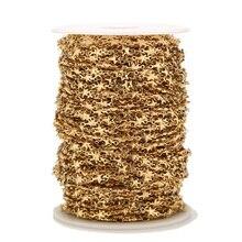 1 метр нержавеющая сталь Золотая Звезда цепочка ручной работы для женщин чокер браслет ожерелье Изготовление ювелирных изделий