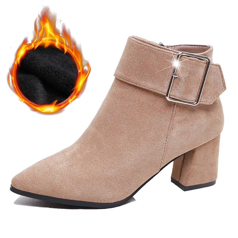 ¡Moda 2020! Botas de invierno de marca, zapatos de mujer, botines de mujer a la moda 2020, botines elegantes para mujer, calzado de Invierno para mujer A1775|Botas hasta el tobillo|   - AliExpress