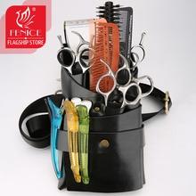 Fenice 6 Packs Hair Care Tools Waist Pack Scissors Comb Bag Pet Hairdresser Tool for Kapper Tas