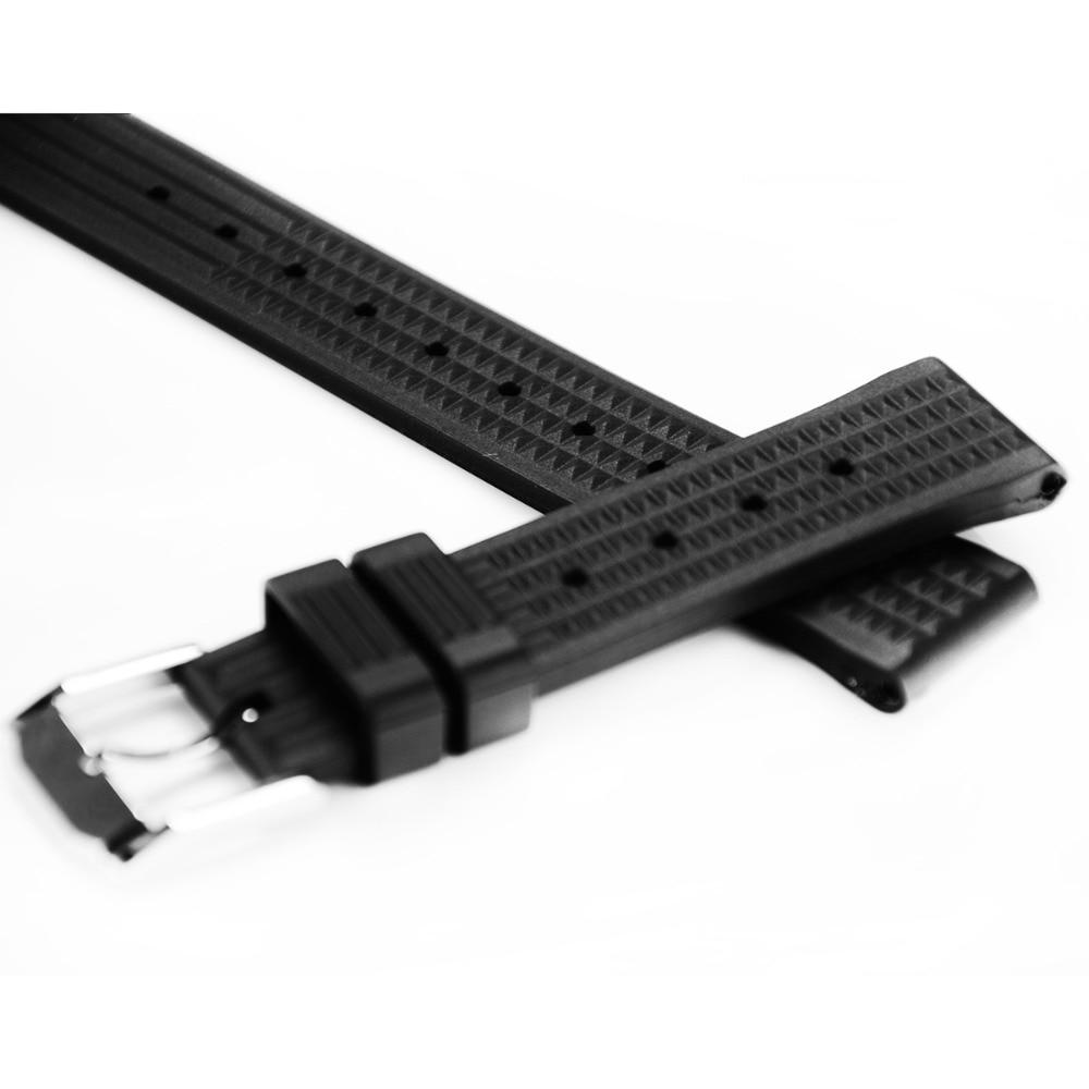 Bracelet de montre en Silicone bande de caoutchouc hommes Sport sangle de plongée pour san martim 62MAS 6015 montre-bracelet ceinture montre accessoires Sport montre