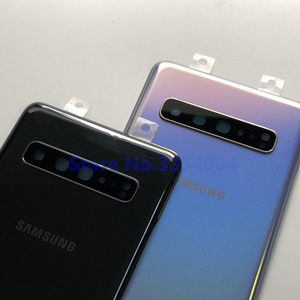 Image 5 - Original For Samsung Galaxy S10 5G G977 G977F G977B 5G version Battery cover Back cover S10 Rear glass screen Rear Glass case