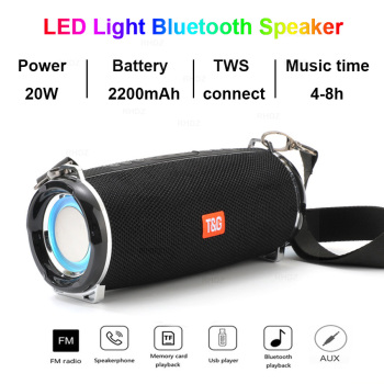 20W Outdoor Bluetooth Speakers Subwoofer TWS boombox Waterproof Portable Music Player 2400 mAh battery column soundbar caixa de