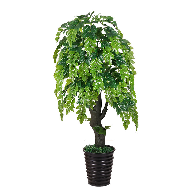 Super Sale Artificial Plants 170cm Blessing Tree Potted Bonsai Greenery Artificial Tree Indoor Living Room Decoration Faux Plants Trees October 2020