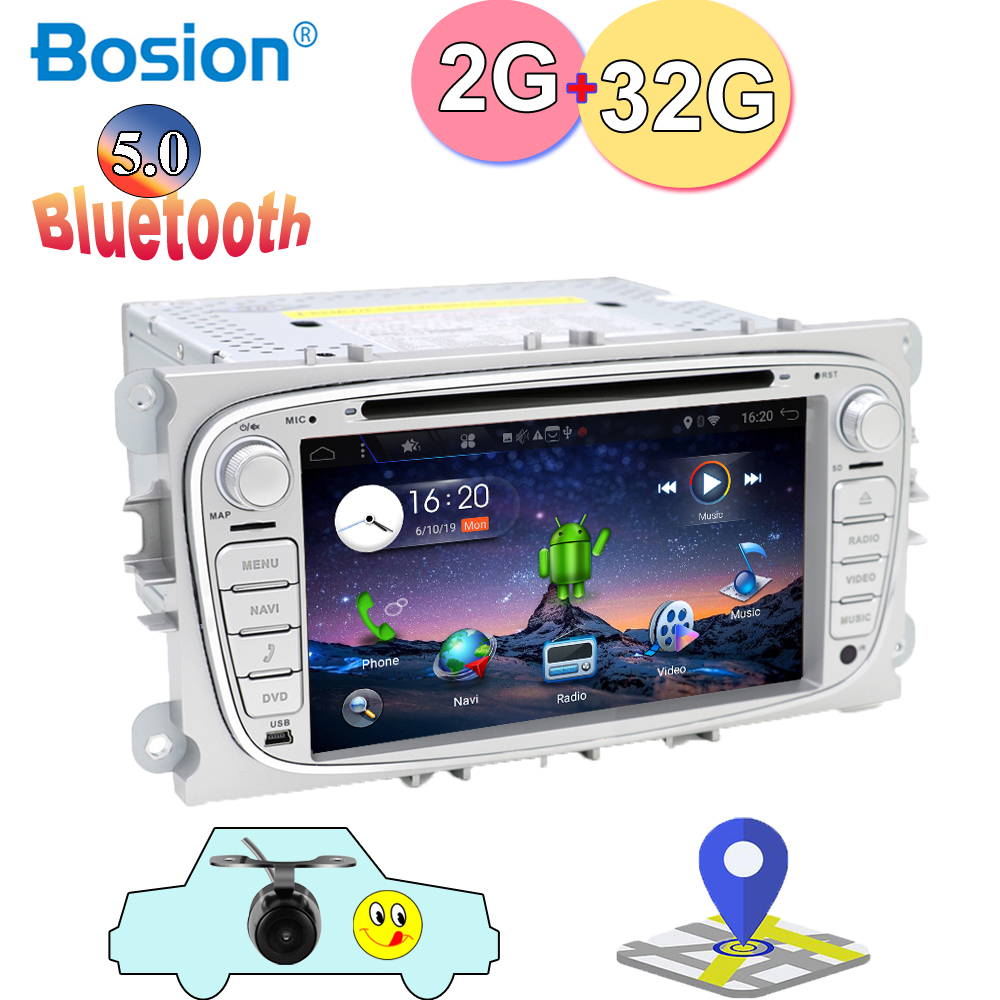 2 Din Android 9.0 Octa 4 Core Car DVD Player <font><b>GPS</b></font> Navigation WIFI 4G for <font><b>FORD</b></font> S-Max Kuga Fusion <font><b>Transit</b></font> Fiesta Focus image