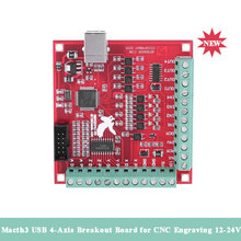 Breakout-Board Motion-Controller MACH3 Driver Engraving 4-Axis-Interface USB for CNC
