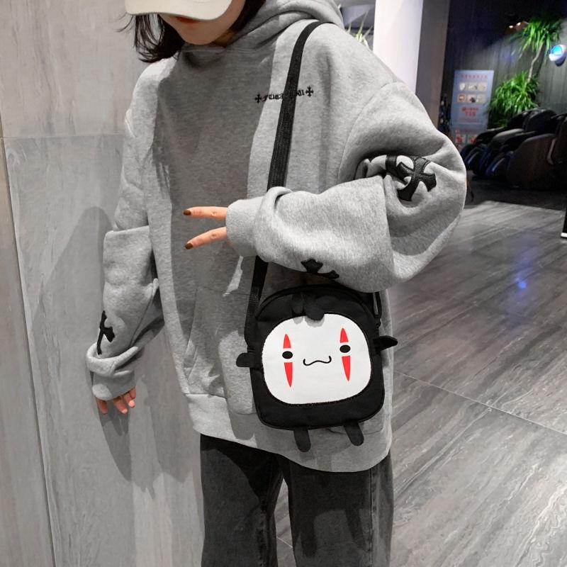No Face Man Backpack Spirited Away Girl Kawaii Handbag Small Briquettes Cartoon Multi-function Harajuku Shoulder Bag