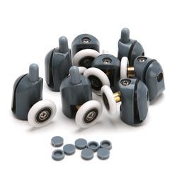 8 шт./компл. ролики для душевой двери бегуны колеса шкивы 25 мм x 5 мм винт крышка Прямая поставка поддержка