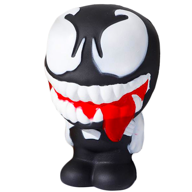 Super Hero Venom Cartoon Doll Toy Squishy Slow Rising Cream Scented Soft Squeeze Toy  Stress Relief Exquisite For Kids Xmas Gift