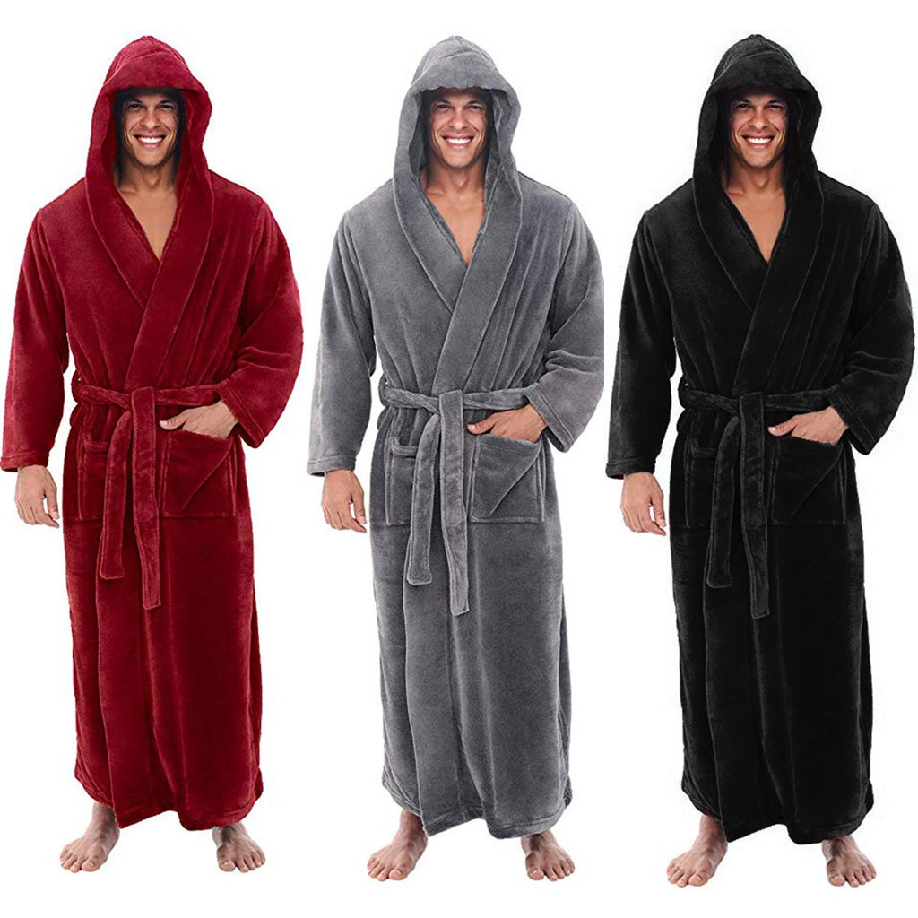 Winter Thick Warm Female Coral Fleece Kimono Robe Lovers Couple Nightgown Bath Gown Sleepwear Men Large Nightwear Sleepwear