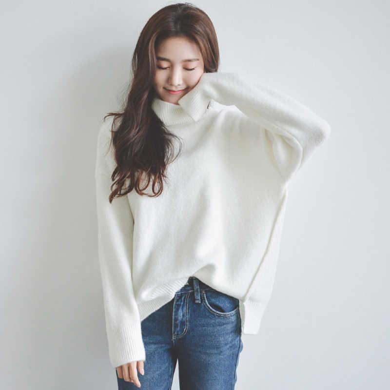 스웨터 여성 겨울 패션 Streetwear 스웨터 터틀넥 풀오버 가을 여성 의류 탑스 Sueter LWL737