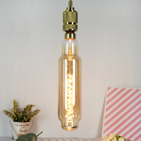 TT80 Edison Bulb Large Size Tube Lamp Light Source Spiral LED Soft Filament Lamp Antique Lamp Retro Feeling