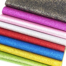 Glitter-Fabric Diy-Crafts 20x30cm Faux-Synthetic-Leather Bags/hair-Accessories-Material