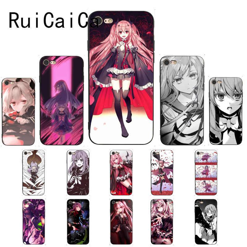Ruicaicaアニメowariなしセラフエンドソフトtpu電話のカバーのための 8 7 6 6sプラスx xs最大 5 5s、se xr 11 11pro 11promax