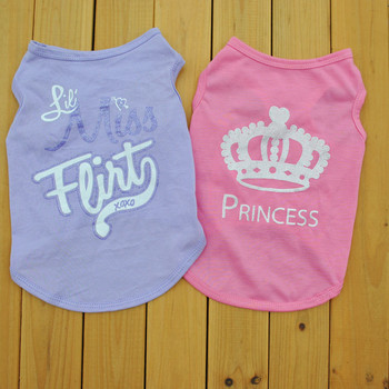 Summer Dog Clothes Puppy Shirt for Dogs Teddy Yorkie Bulldog Dog Shirt Small Dog Cat Vest Pet T-shirt Teacup Puppy Clothes