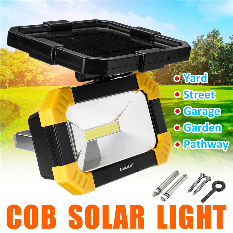 LED Solar Flood Light Waterpproof IP65 LED Wall Flood Outdoor Camping Emergency LED Floodlight 12hours Lighting|Solar Lamps| |  - title=