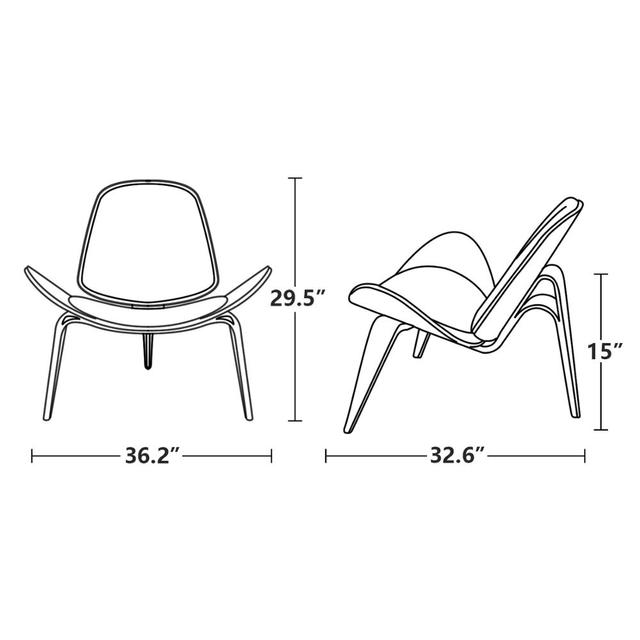 Furgle Replica Lounge Nordic Creative Simple Designer Single Sofa Chair Smile Airplane Shell Chair Dining Room Chairs 6