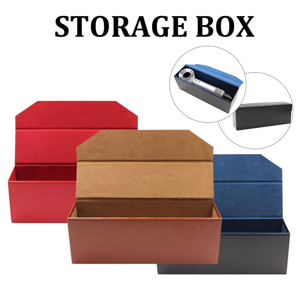 Storage Case Magnetic Flip PU Leather Organizer Travel Gift Container For Dyson Supersonic Hair Dryer Portable Quick Delivery