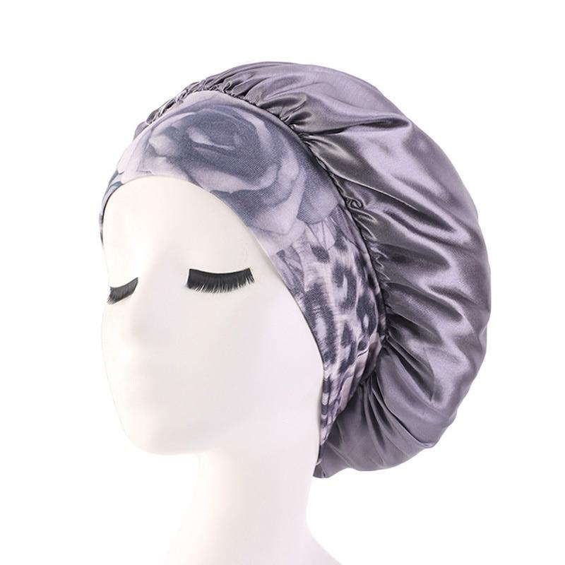 Ladies Wide Band Elastic Hair Styling Caps Night Sleeping Hat Women Silk Bonnet Soft Long Hair Care Caps Cosmetic Hat