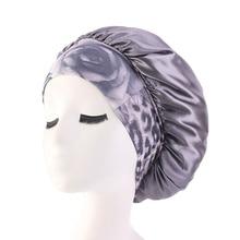 Ladies Wide Band Elastic Hair Styling Caps Night Sleeping Hat Women