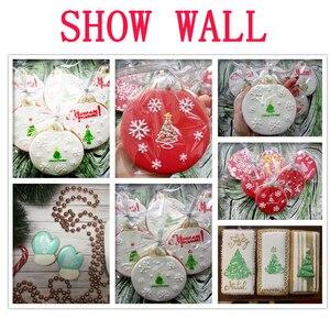 Image 5 - 6 teile/satz Weihnachten Baum Kuchen Spitze Schablonen Hochzeit Party Cookie Mould Cupcake Dekoration Vorlage Kuchen Werkzeug