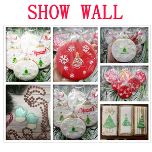 Image 5 - 6pcs/set Christmas Tree Cake Lace Stencils Wedding Party Cookie Mould Cupcake Decoration Template Cake Tool