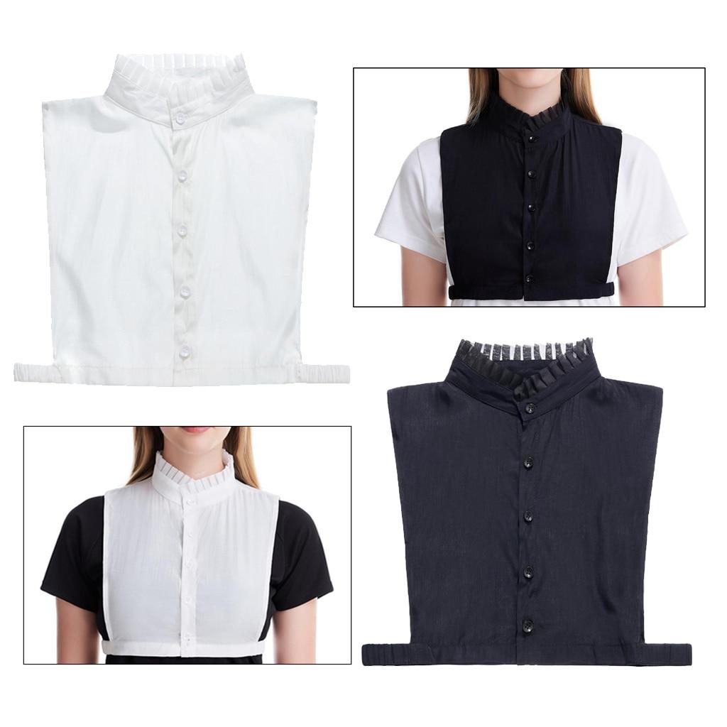 Lady False Collar Fake Half Shirt Blouse Detachable Bib Collar Dickey Collar