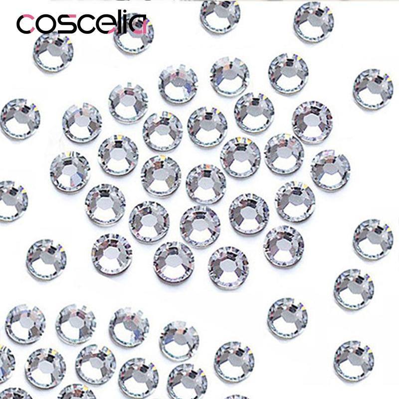 1000PCS/Pack Crystal Clear AB Rhinestones Nail Rhinestones For Nails 3D Nail Art Decorations Gems