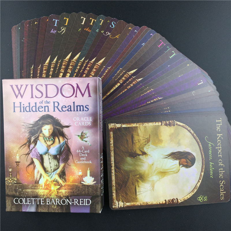 Game Magical Divination Card Wisdom Of Hidden Realms Oracle Card Deck English Tarot Card Deck And Guidebook Card Table Card